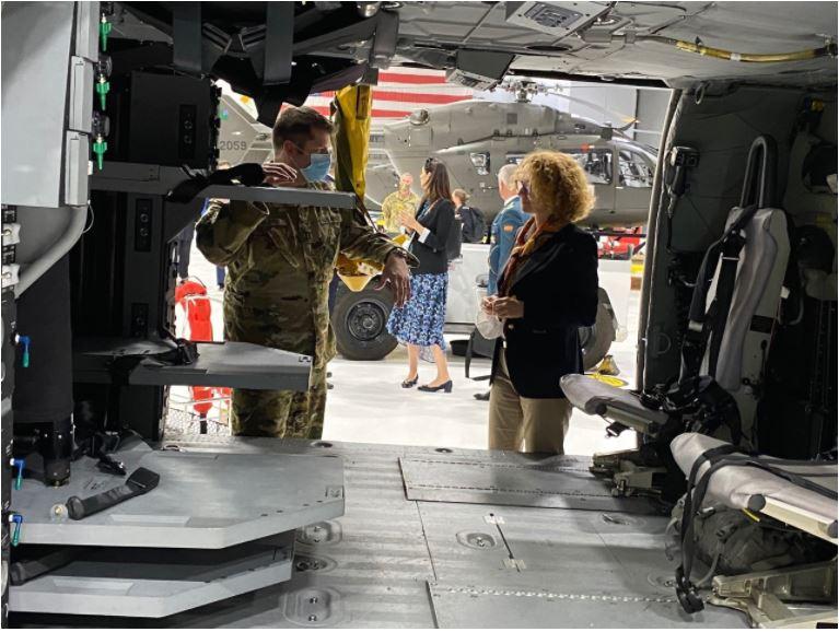 Шекеринска почесен гостин на Националната гарда на Вермонт, се разгледуваат можности за обуки на наш кадар за цивилна заштита и спасување