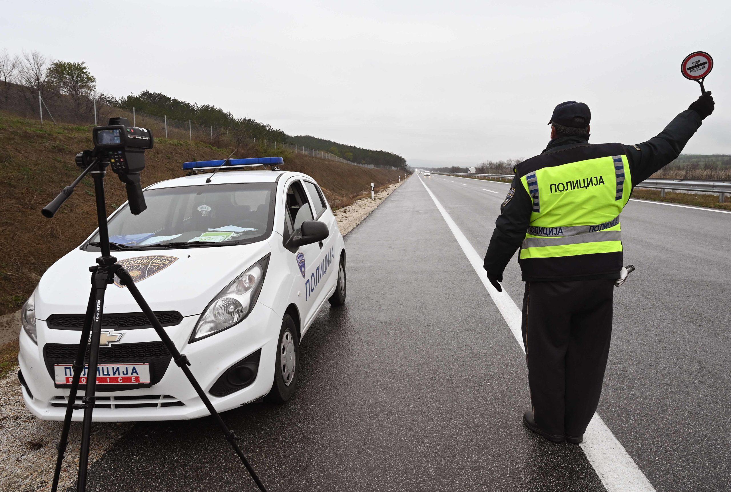 На територија на СВР Велес казнети 83 возачи за брзо возење