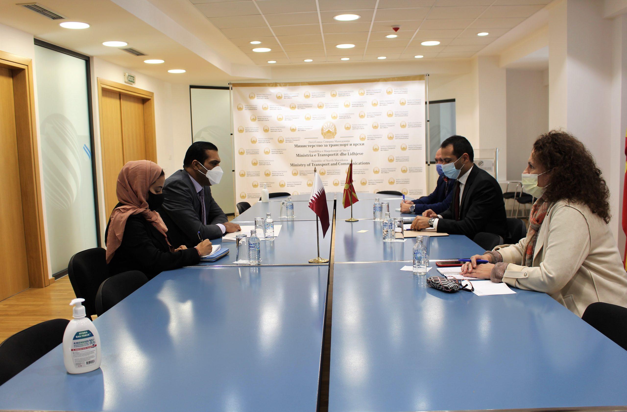 Средба Бочварски – Ал-Тани: Да ја разгледаме можноста за обнова на авиолинијата Скопје – Катар